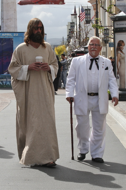 jesus and colonel sanders